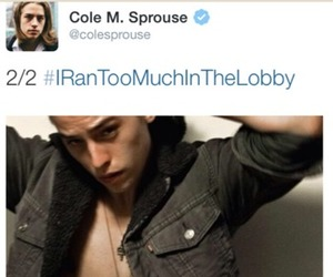 funny, cole sprouse, and twitter image
