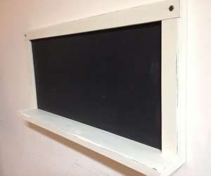 framed chalkboard, framed blackboard, and kitchen chalkboard image