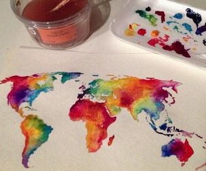 art, world, and paint image