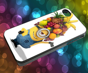 fruit head, minions, and despicable me image