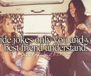 friendship, jokes, and quotes image