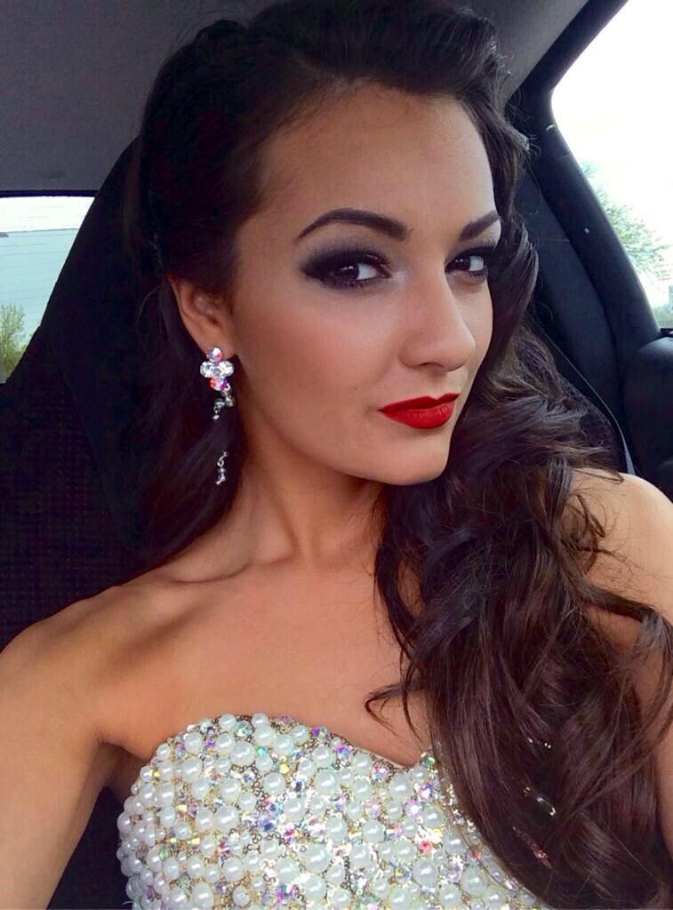Victoria Zito Wears 50s Inspired Hair For Prom With A Classic Red Lip All Make Up