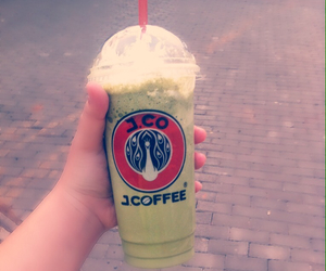 blend, cup, and green image