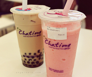 bubble tea, drink, and food image