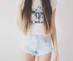 fashion, hairs, and ombre image