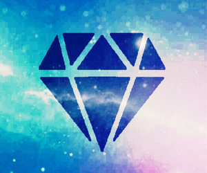 diamond, galaxy, and wallpaper image