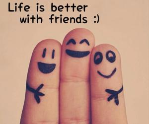 friends, life, and happy image