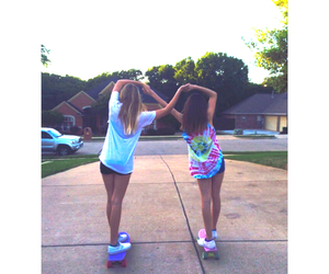amazing, best friends, and penny board image