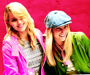 dianna agron, glee, and heather morris image