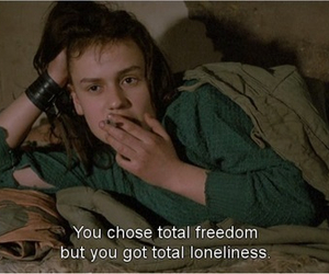 loneliness, quote, and freedom image