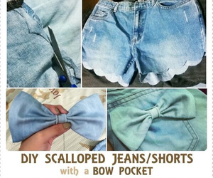 diy, bow, and jeans image