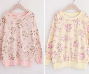 floral, kfashion, and sweater image