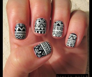 aztec, nail art, and nailart image