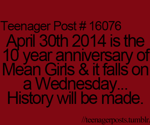 mean girls, wednesday, and anniversary image