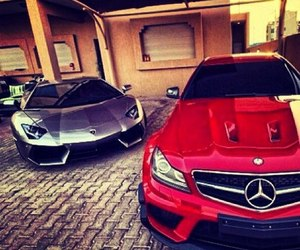 car, mercedes, and red image