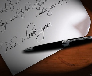 love, Letter, and ps i love you image