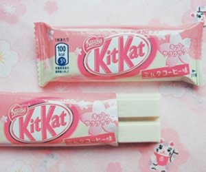 pink, kitkat, and food image
