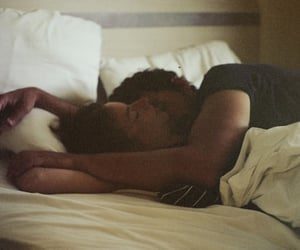 bed, cuddles, and kiss image