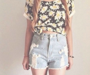 flowers, beach, and fashion image