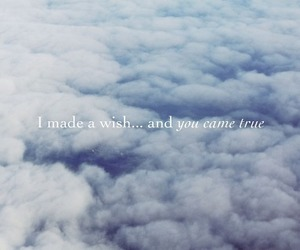 wish, sky, and clouds image