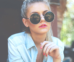girl, sunglasses, and glasses image