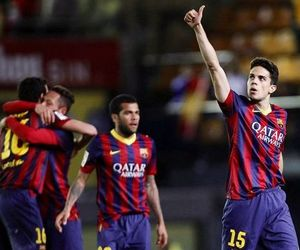 alves, bartra, and messi image