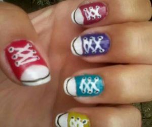 allstars, converse, and nails image