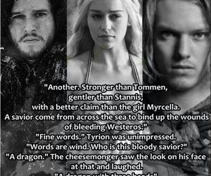 dragon, stark, and jon snow image