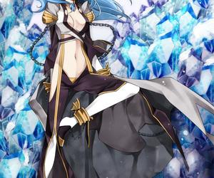 anime, anime girl, and blue hair image