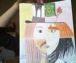 alice in wonderland, edward scissorhands, and jack sparrow image
