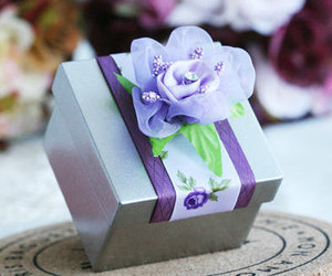 country wedding, pink rose, and pink box image