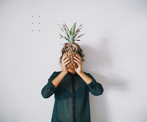 girl, pineapple, and vintage image