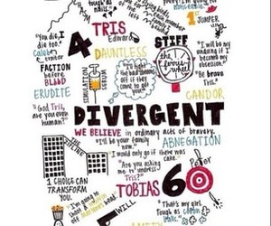 divergent, reading, and dauntless image