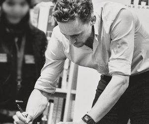 black and white, tom hiddleston, and loki image
