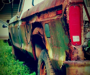 old, photography, and truck image