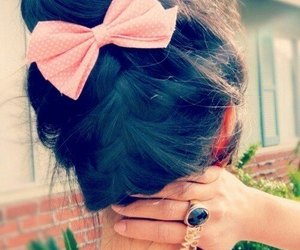bow, rings, and hairstyle cute image
