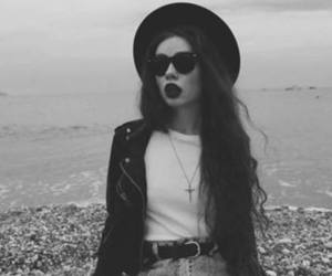 girl, grunge, and black and white image