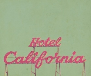 california, hotel, and pink image