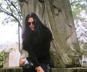 goth boy, long haired man, and the 69 eyes image