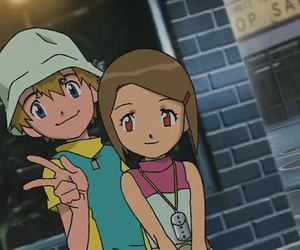 anime, otp, and digimon image