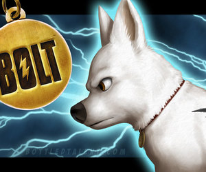 bolt, disney, and dogs image