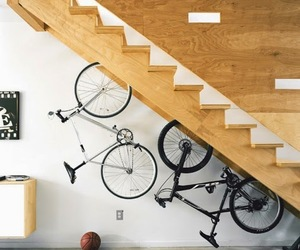 bike and stairs image