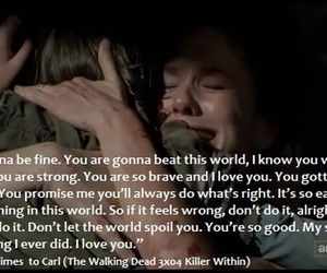 the walking dead, carl, and quote image