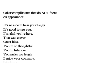 appearance, compliments, and quote image