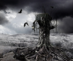 dark, empty, and evil image
