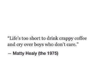 quote, boy, and coffee image