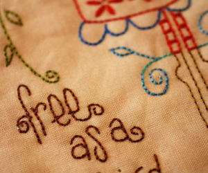 quote, quotes, and sewn image