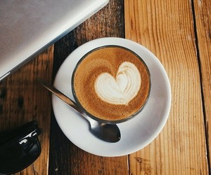 heart and coffee image