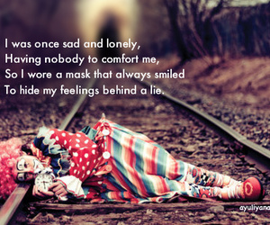 sad, lonely, and quote image