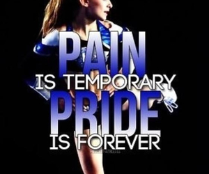 cheer, pain, and cheerleading image